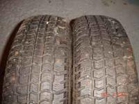 snow tires just as listed please text . 100.00 no less.
