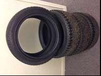 Set of 4 HANKOOK WINTER I PIKE SNOW TIRES. Tire size is