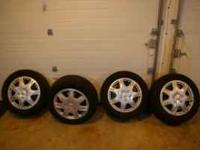 4 Mastercraft Glacier Grip II 215/55R 16 Snow tires and
