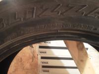 Four Hankook I Pike 245-55-R-19 snow tires like new!