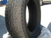 2 sets if 4 used Hankook winter ipike tires - size