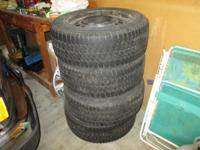 For Sale   Set of 4 snow tires Size P215/60R16