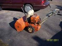 Selling two stage, 5 HP Montgomery Ward good runner