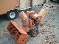 Montgomery wards 7hp, 2 stage snowblower with a 24""