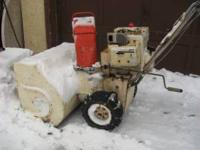 BIG JACOBSEN snowblower 8HP, ELECTRIC START, WIDE 30