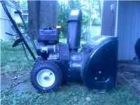 "A YARD MACHINE, 22"" 5 HP SNOWBLOWER FOR SALE. RUNS"