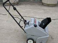 Snowblower 5 hp single stage electric start 2 cycle mix