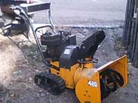 """I have this great running 20"""" snowblower for sale. It"""