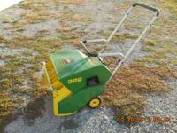 John Deere Model 322, 2 cycle snowblower. Electric and