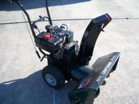 "Craftsmen 9h.p. Snowblower with 26"" clearing path. It"