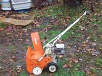 HI, WE HAVE FORSALE AN OLDER SNOWBLOWER, THE BRAND IS A