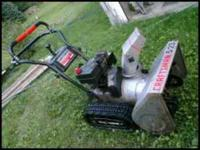 Craftsman 5hp snowblower with tracks. SOLD SOLD SOLD .