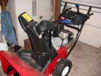 Newer snowblower used 1 time , will blow snow 45 ft it