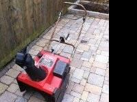 Toro CCR 2000 4.5hp snowblower. $125 cash takes it.