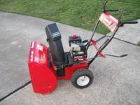 "Snow Blower Yard Machine. 5hp. 22"" clearing width. 5"