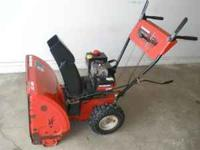 "FOR SALE IS A YARD MACHINE SNOWBLOWER, 5 HP, 24"" PATH,"