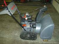 CRAFTMANS SNOWBLOWER RUNS AND WORKS GREAT. HAS STEERING