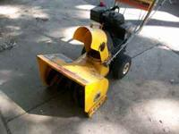 "4hp, tecumsen, 20"" cut, call  Location: Belvidere"