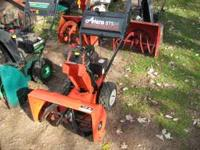 snowblowers all serviced ready to go some electric