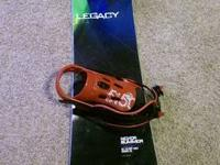 2013 Never Summer Legacy snowboard with XL 51/50