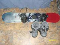 LTD Snowboard, boots and binders, snowboard is 51