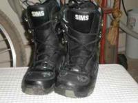SIMS size 7 snowboard boots   Location: redding