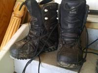 Snowboard Boots Mens Size 9 Black - 20 - 128th & Zuni
