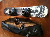 Snowboard, bindings and bag...used 3 times, nothing too