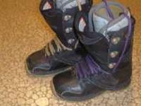 MEN'S SNOWBOARD BOOTS--Thirty-Two's, size 8, Good