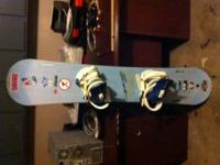 This is an SMC 148 snowboard with brand new/ never used
