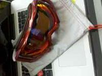 New fire iridium orange/red tinted Snowboarding goggle