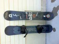 I have two snowboards available. One with bindings and