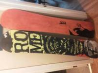 2 snowboards -Rome mod 158 two years old excellent