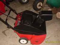 mtd pull start and electric start snowblower good shape