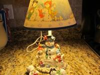 Snowman Lamp with 3 Huggers $20 Hurry before it's