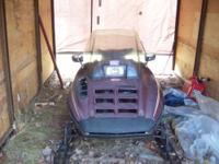 1985 Polaris Indy Trail Snowmobile. Runs, Drives. No