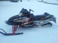 This is a 2004 Sno Pro F6 Firecat 600cc efi liquid