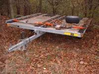 8.5x10 ft Triton Galvanized tilting snowmobile trailor