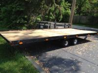 Up for sale is our 4 place steel snowmobile trailer.