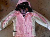 womens medium pink snozu winter jacket (waterproof and