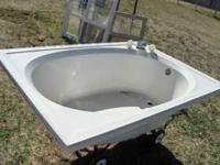 Soaking tub - white 41 3/4 x 59 3/4 $50 obo  soak,