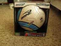 Brand new soccer ball that has never been used. It is