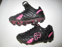 -FILA soccer cleats; black/pink; size 12: $10 * -LOTTO