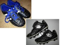 -ADIDAS Soccer Cleats; black/blue; size 12: $10 *