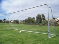We have two Like New Steel Soccer Goals, that were