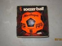 MacGregor Regulation Size 5 Soccer Ball Bright Orange