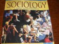Sociology textbook in great condition email or call .