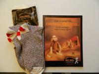 sock monkey socks and Instruction book. Call or text