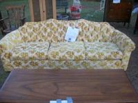 sofa is yellowish gold in good shape $100-cash only!