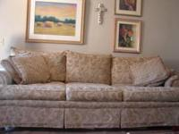Long sofa extra comfortable with no rips or tears. Call